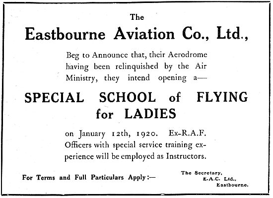 Eastbourne Aviation - Flying School For Ladies