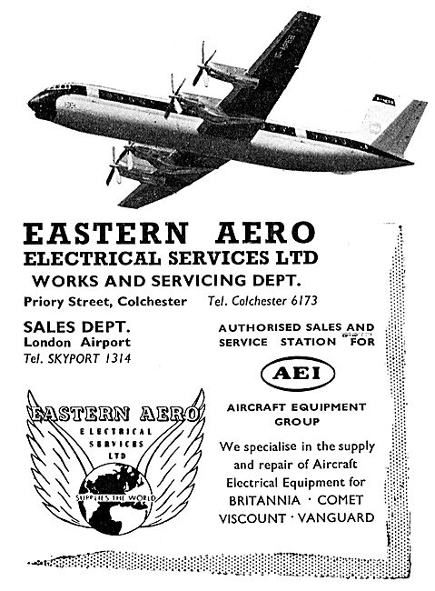 Eastern Aero Electrical Services London Airport. AEI Service