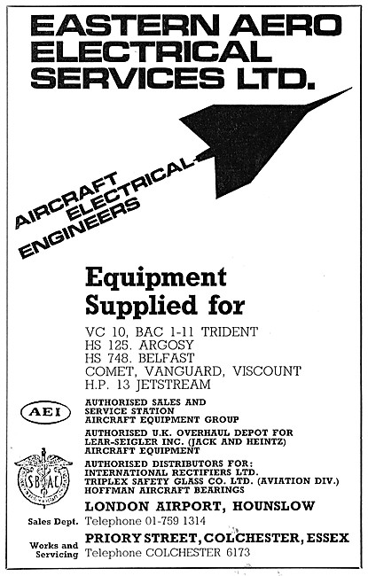 Eastern Aero Electrical Services. Aircraft Electrical Engineers