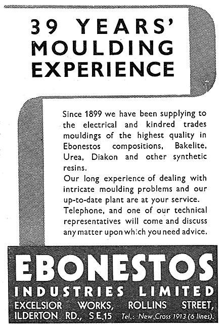 Ebonestos Bakelite, Urea & Diakon Mouldings