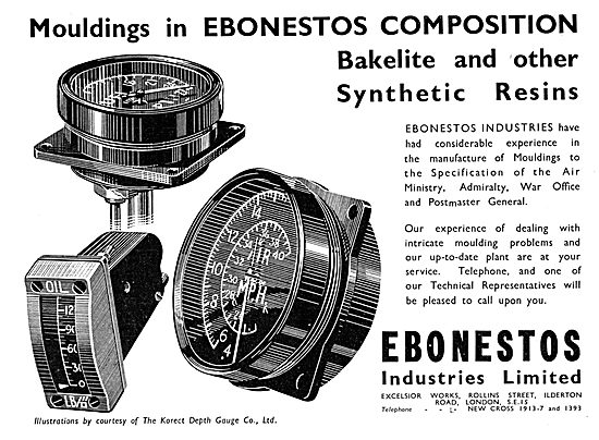 Ebonestos Bakelite Mouldings & Synthetic Resins 1939