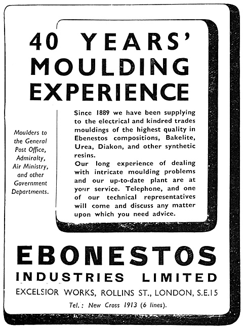 Ebonestos Bakelite Mouldings