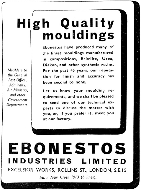 Ebonestos Bakelite Mouldings