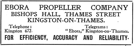 Ebora Aeroplane Propellers - Bishops Hall, Kingston-On-Thames