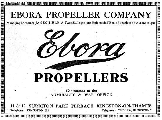 Ebora Aeroplane Propellers - Kingston-On-Thames