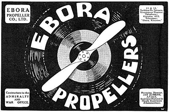 WW1 Ebora Propellers 1917