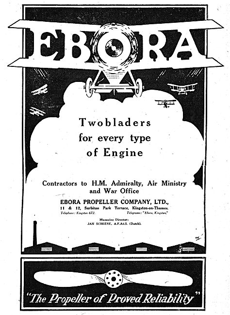 Ebora Two Blader Aeroplane Propellers