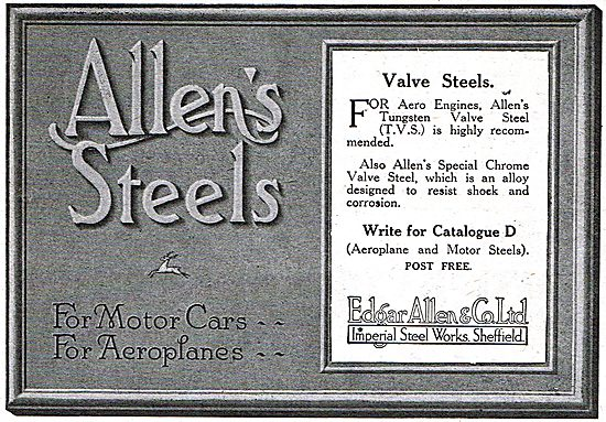 Edgar Allen & Co - Valve Steels For Aero Engines
