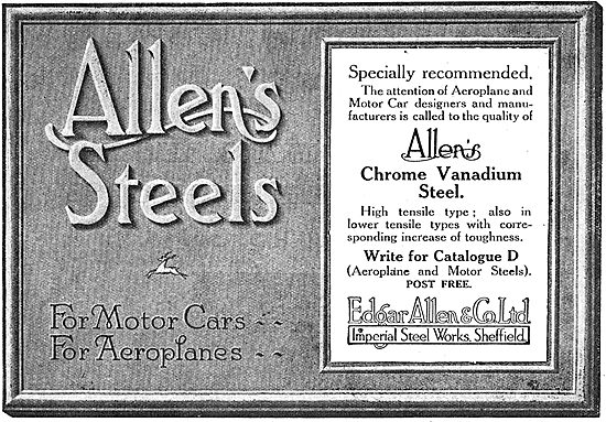 Edgar Allen & Co - Chrome Vanadium Steel For Aeroplane Mfg