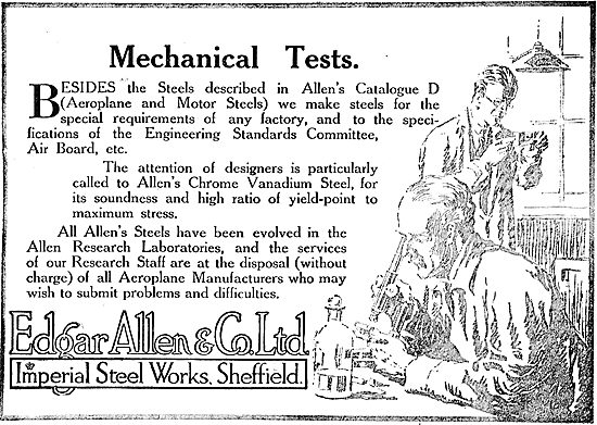 Edgar Allen & Co - Special Steels For Aircraft Constructors