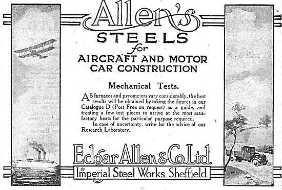 Edgar Allen & Co - Aircraft Steel