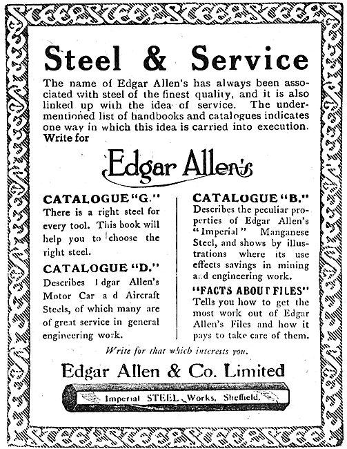 Edgar Allen & Co - Expert Steelmakers