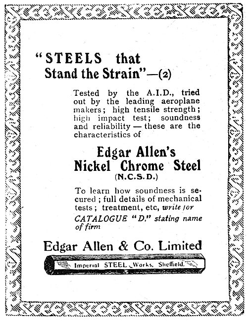 Edgar Allen & Co - Steels For Aircraft