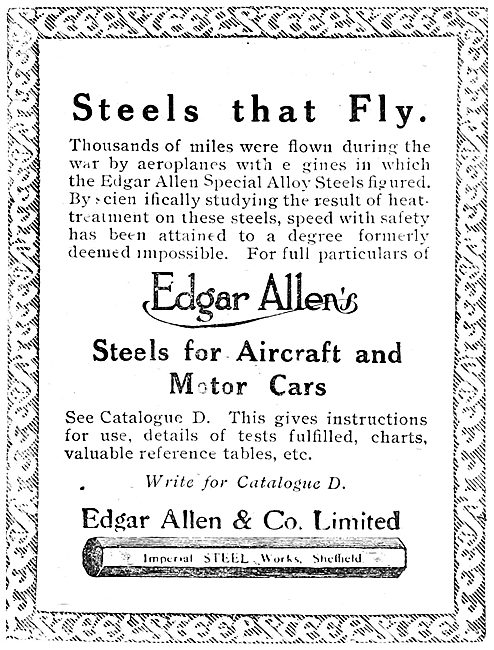 Edgar Allen & Co - Alloy Steels
