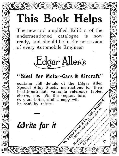 Edgar Allen & Co - Steels For Aircraft