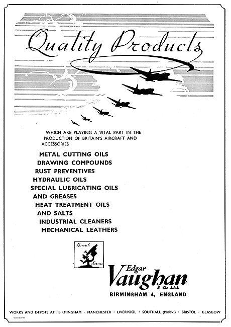 Edgar Vaughan Rust Preventatives, Industrial Cleaners & Oils