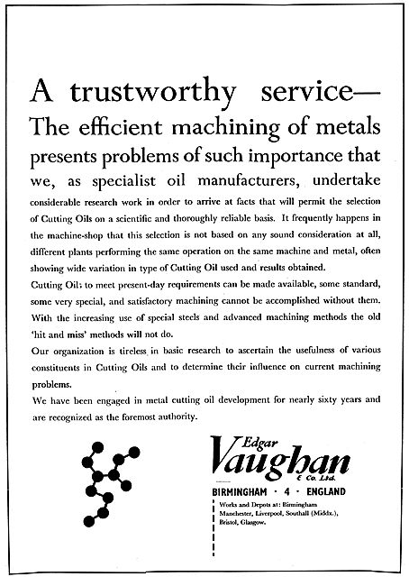 Edgar Vaughan Machining Cutting Oils