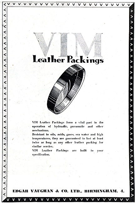 Edgar Vaughan VIM Leather Packings
