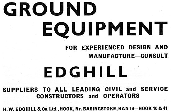 Edghill & Co. Hook. Manufacturers Of Airport Ground Equipment
