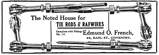 Edmund O.French. 44, Earl Street, Coventry. Tie Rods & RAFWires