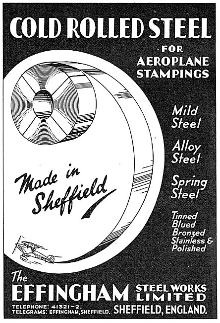 Effingham Cold Rolled Steel 1937
