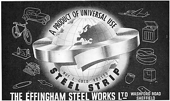 The Effingham Steel Works - Hot & Cold Rolled Steel Strip 1952