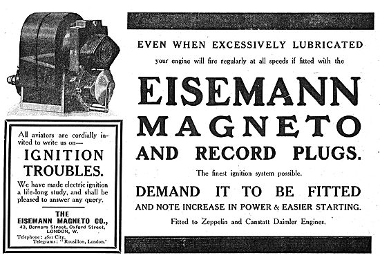 Eisemann Aero Engine Magnetos & Spark Plugs
