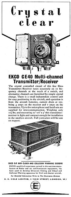 EKCO CE 40 Multi-Channel Transmitter / Receiver. 1950