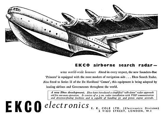 Ekco Airborne Search Radar