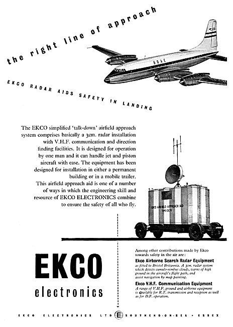 Ekco 3cm Radar Talk Down Installations