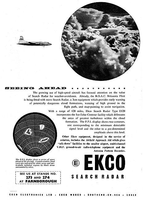 Ekco Aircraft Search Weather Radar