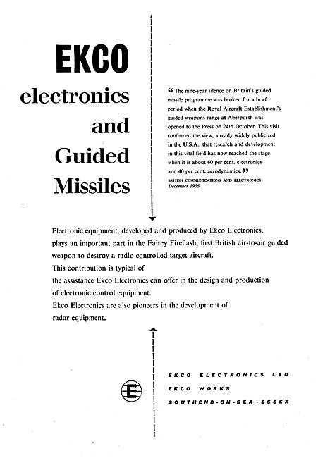 Ekco Electronics & Guided Missiles
