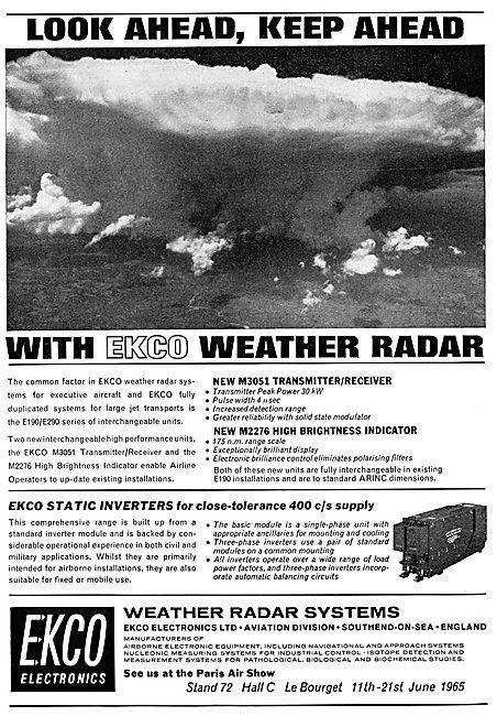 Ekco Weather Radar. M3051 Transmitter Receiver M2276 Indicator