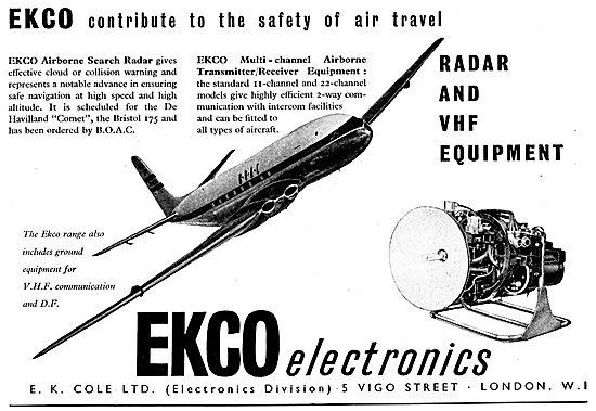 Ekco Aircraft Radio & Radar Equipment