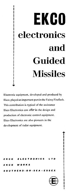 Ekco Electronics For Guided Missile Controls