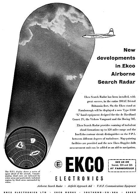 EKCO Airborne Search Radar - EKCO Aircraft Weather Radar
