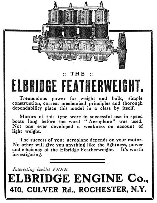 Elbridge Engine Co. Culver Rd. Rochester N.Y. Featherweight