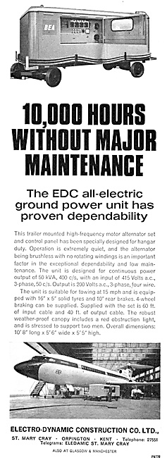 Electro-Dynamic Construction Ground Power Units. GPU