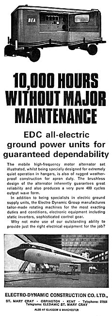 Electro-Dynamic Construction GPU Ground Power Units