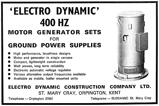 Electro-Dynamic Ground Power Supplies & Generator Sets