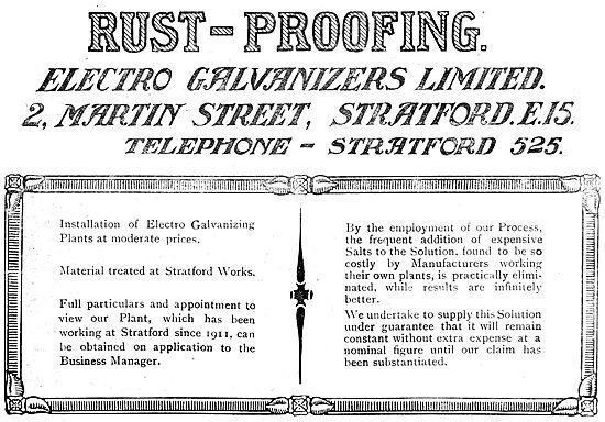 Electro Galvanisers Ltd. - Electro Galvanising Plants - 1919