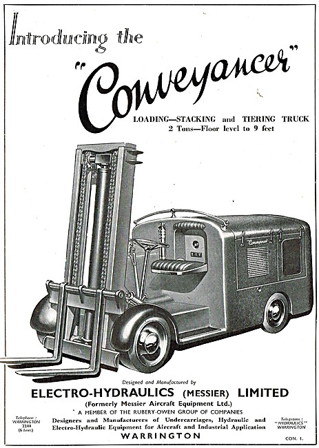Electro-Hydraulics Conveyancer Fork Lift Truck