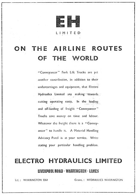 Electro Hydraulics Aircraft Undercarriages & Components