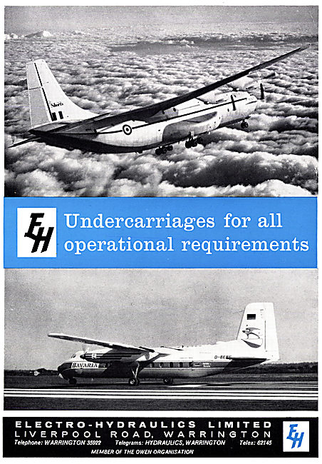 Electro Hydraulics Aircraft Undercarriages 1965
