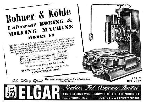 Elgar Machine Tools - Bohner & Kohle Milling Machine