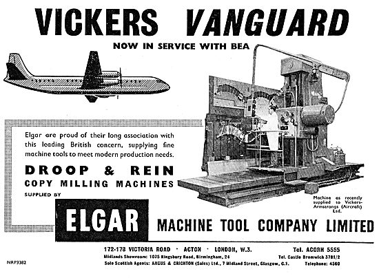Elgar Machine Tools For The Aircraft Industry. Droop & Rein