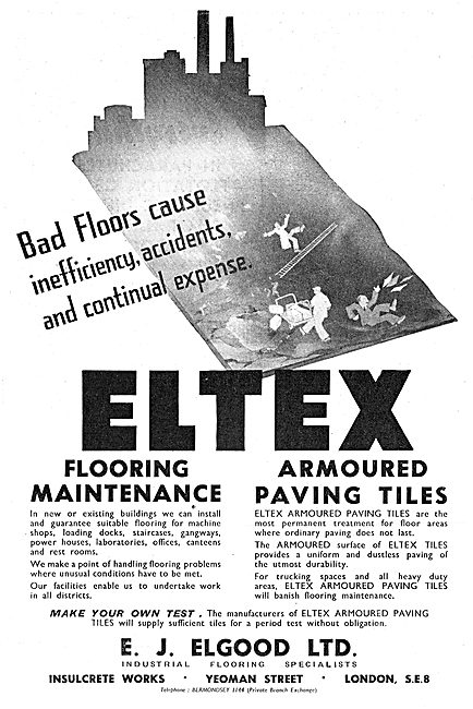 E.J.Elgood  - Flooring For Aircraft Factories - Eltex