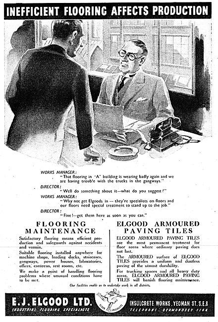 E.J.Elgood Factory Flooring 1942