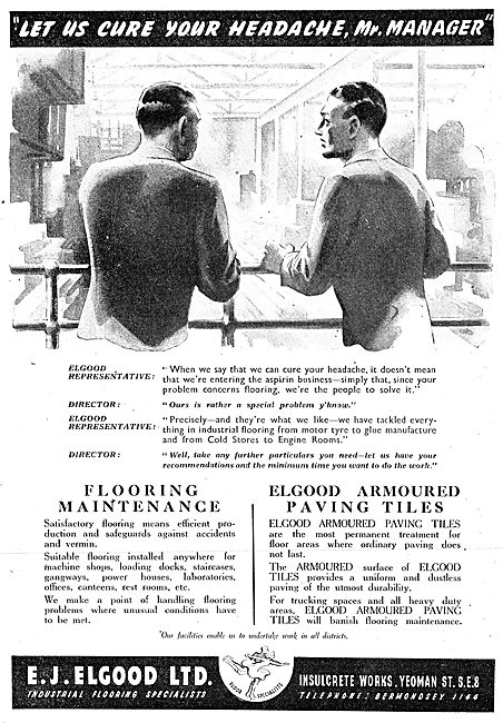 E.J.Elgood Armoured Paving Tiles For Factories