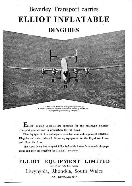 Elliot 20 Man Dinghies Specified For The Blackburn Beverley